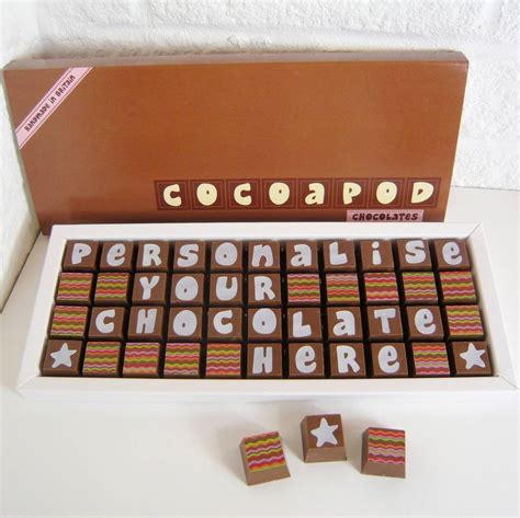 personalised chocolates in large box by chocolate by