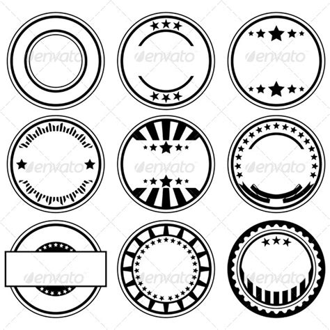 company rubber st template stock vector graphicriver rubber sts 4771589