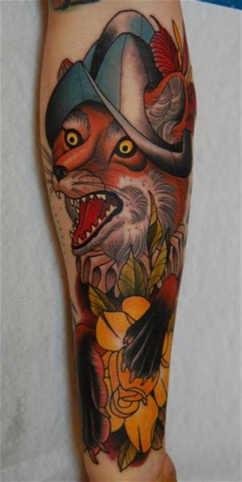 new school fox tattoo arm new school fox tattoo by peter lagergren