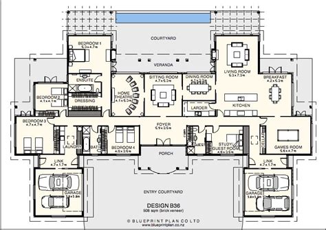 home design with attached flat house plan with flat attached home photo style