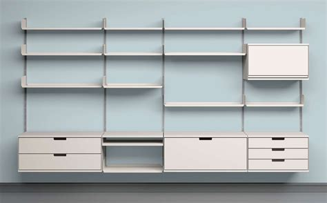 Wall Bookshelf by Modular Shelving For Office