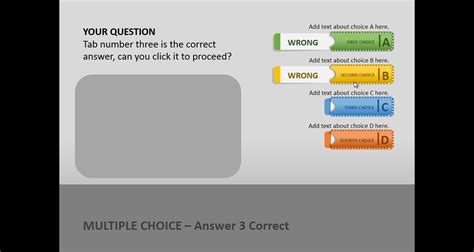 Create A Quiz In Powerpoint With Quiz Tabs Powerpoint Template Quiz Template Powerpoint