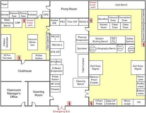 typical biography layout map byu cleanroom