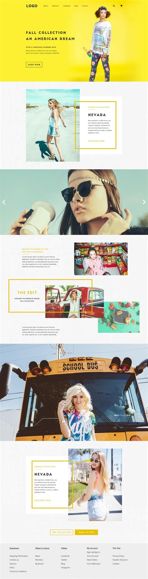 web layout behance fashion editorial concept on inspirationde