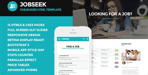 bootstrap templates for job portal free 20 job portal html5 templates free premium website themes