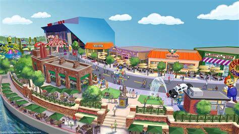theme park on the simpsons les simpson springfield dans un parc d attractions cet
