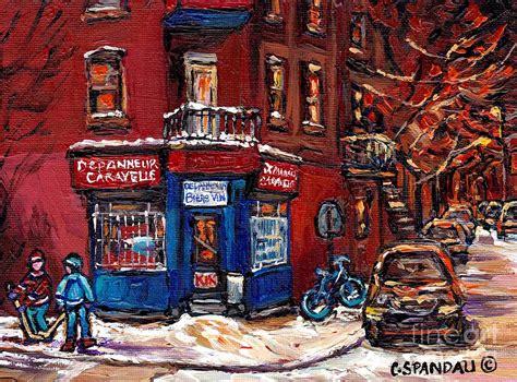 paint nite montreal winter hockey painting depanneur