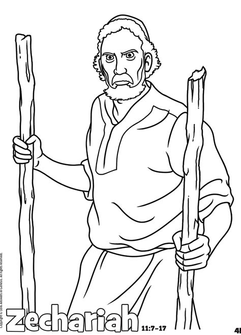 coloring page for zechariah coloring answers