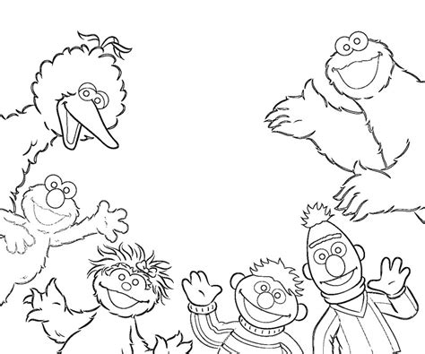 printable pictures of sesame street characters az
