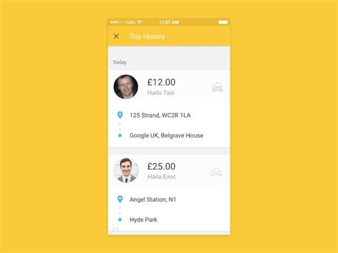 app design yellow hailo material design animated interaction pixate by