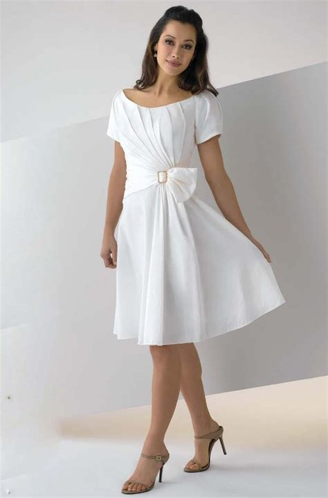 white cocktail dresses with sleeves   Di Candia Fashion