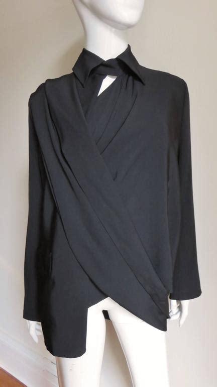 drape jackets for sale yohji yamamoto wrap and drape silk jacket for sale at 1stdibs