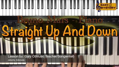 piano tutorial up is down bruno mars straight up and down easy piano tutorial