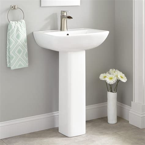 Kerr porcelain pedestal sink bathroom