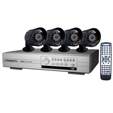 watchguard cctv security system complete kit with 4
