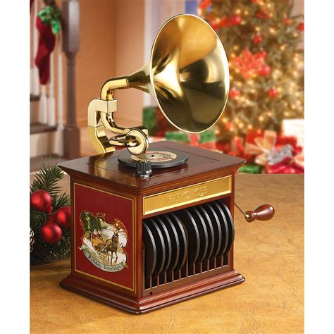 mr christmas 174 tabletop harmonique gramophone 226218