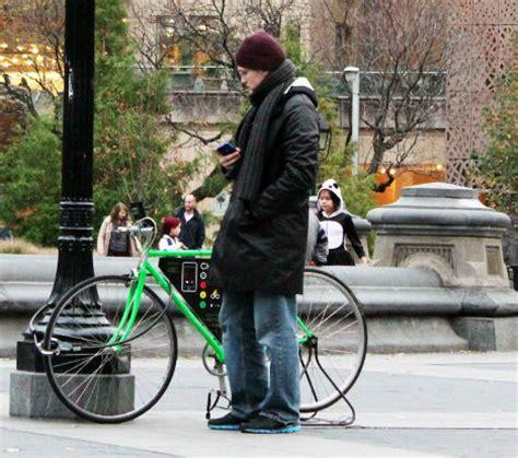 charge cycle bike powered public phone charging