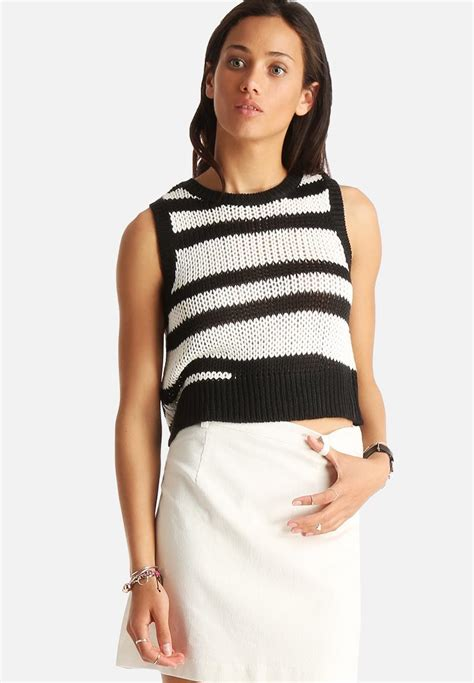 asymmetrical knit top get ready asymmetrical knit top black white minkpink