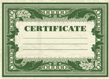 money certificate template money certificate