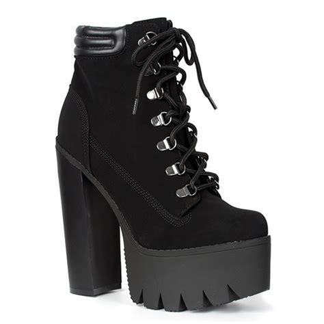 black lace up platform boots sinistersoles