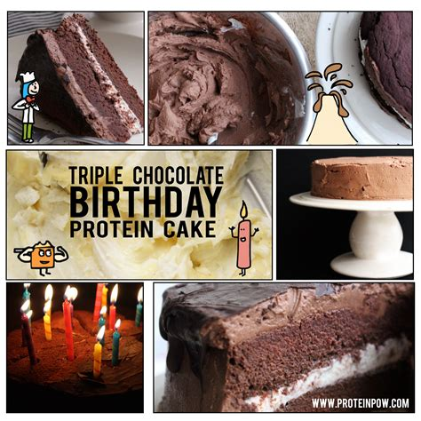 protein chocolate chocolate birthday protein cake