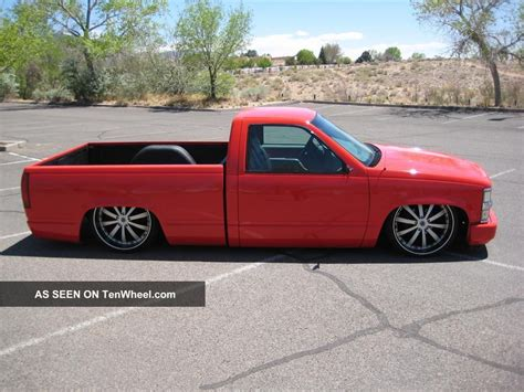 truck bed cab 1998 chopped slammed silverado 1500 half ton single cab short bed truck