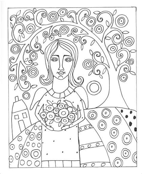 Folk Coloring Book