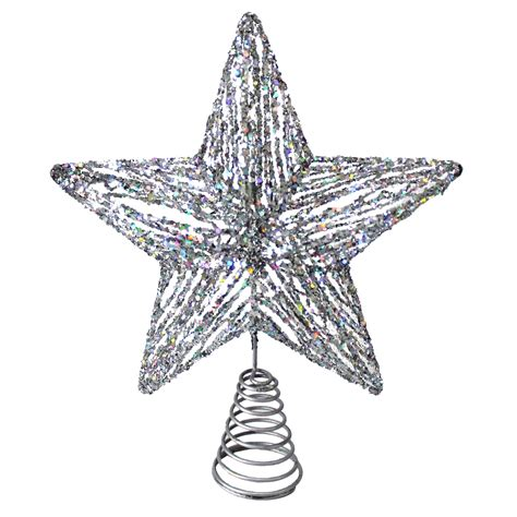 17 quot glitter silver star tree topper sears