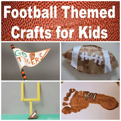 football crafts for 6 football themed crafts for