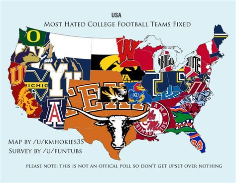 what football team has the most fans analyzing the most hated teams in football ncaa