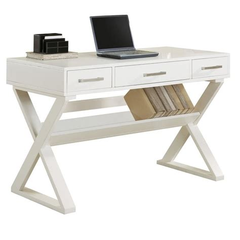 coaster desk coaster desks desk with three drawers in white 800912