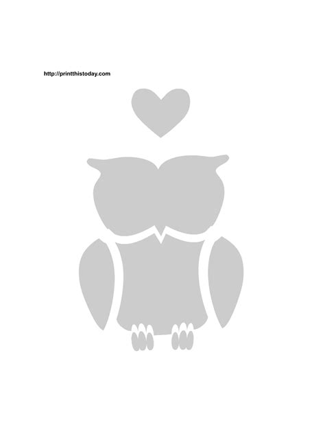 printable valentine stencils owl stencil stencils and owl on pinterest