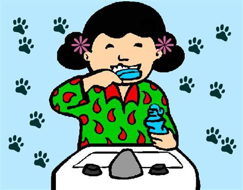 dibujo de ni a cepill ndose los dientes para colorear como dibujar un ni 241 o lavandose los dientes imagui