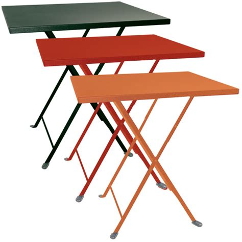 tavoli pieghevoli per esterno tavolo pieghevole da giardino in acciaio lario quadrato