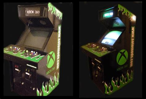 xbox 360 arcade cabinet for serious gamers technabob