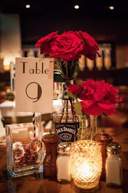 no chips change the flowers but i the jd bottle for centerpiece roaring 20 s
