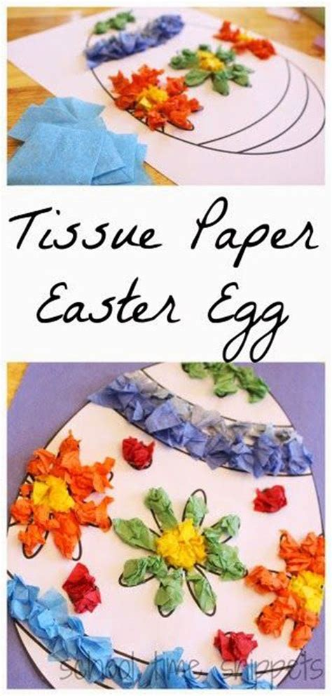 Tissue Paper Easter Crafts - 40 simple easter crafts for one project