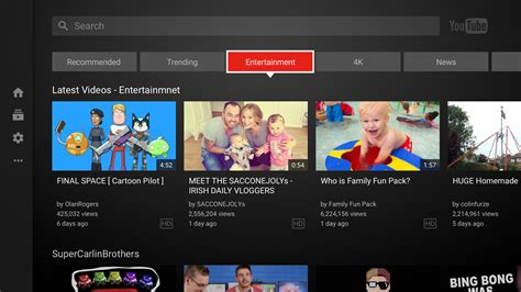 youtube home design shows youtube s app for the big screen is being updated today