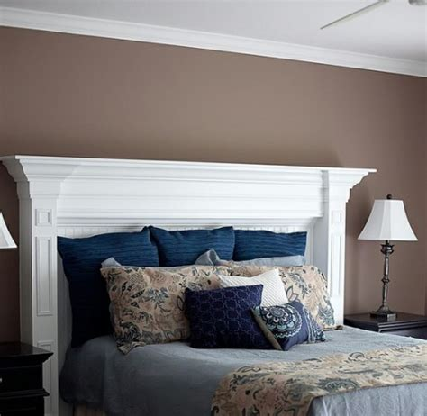 creative headboard ideas  imitate  fireplace shelterness