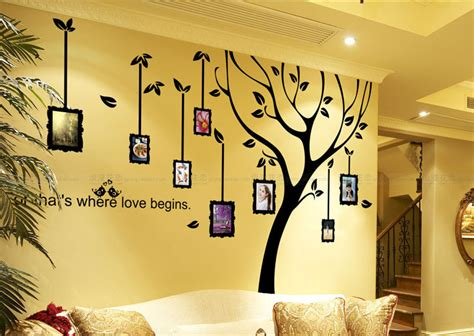 Sleeping Tree Wall Decor Decal Beautiful Interior Family Tree Decal Photo Frame Wall Decallarge By