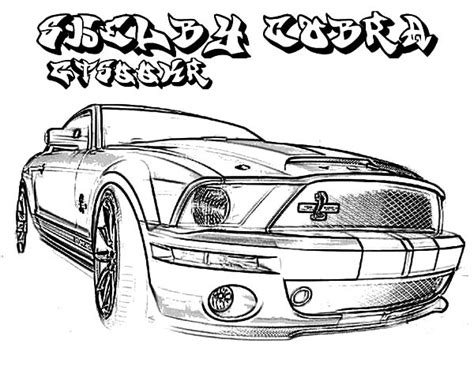 mustang coloring sheet 69 mustang fastback coloring pages