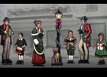 life size christmas carolers displays yard patterns and on