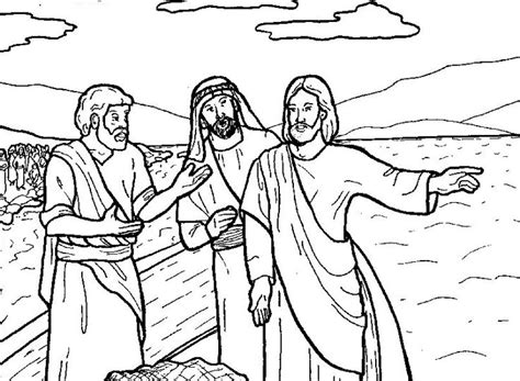 printable coloring pages of jesus and his disciples jesus call the disciples church sunday school vbs