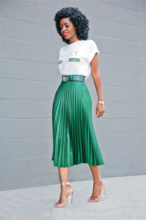 Shirt Pleated Skirt style pantry logo print t shirt pleated midi skirt