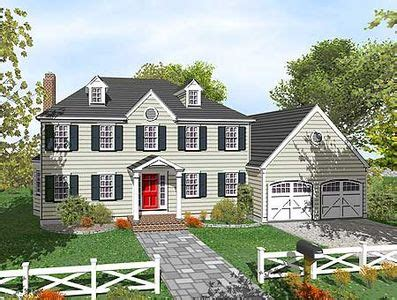 two story colonial house plans two story colonial with open floor plan 9551dm