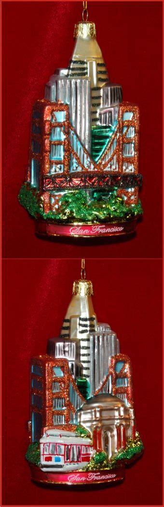 sunny san francisco family christmas ornaments