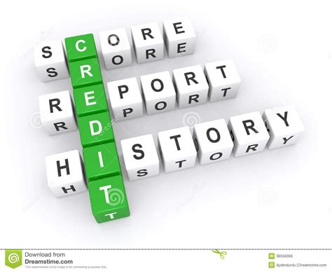 Credit Block Letter Credit Score Report Stock Illustration Image Of Above