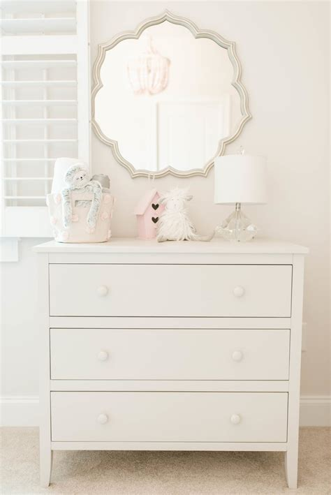 mirrored dresser for baby room all the heart eyes for kingsley s xo nursery pink white
