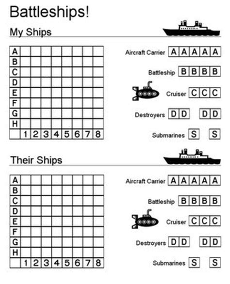 logic board games printable printable battleship game and other printables would