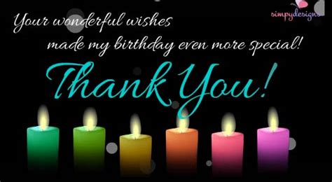 Happy Birthday Wishes Thanks Thank You For Your Birthday Wishes Free Birthday Thank
